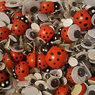 Ladybirds and google eyes by nattyb