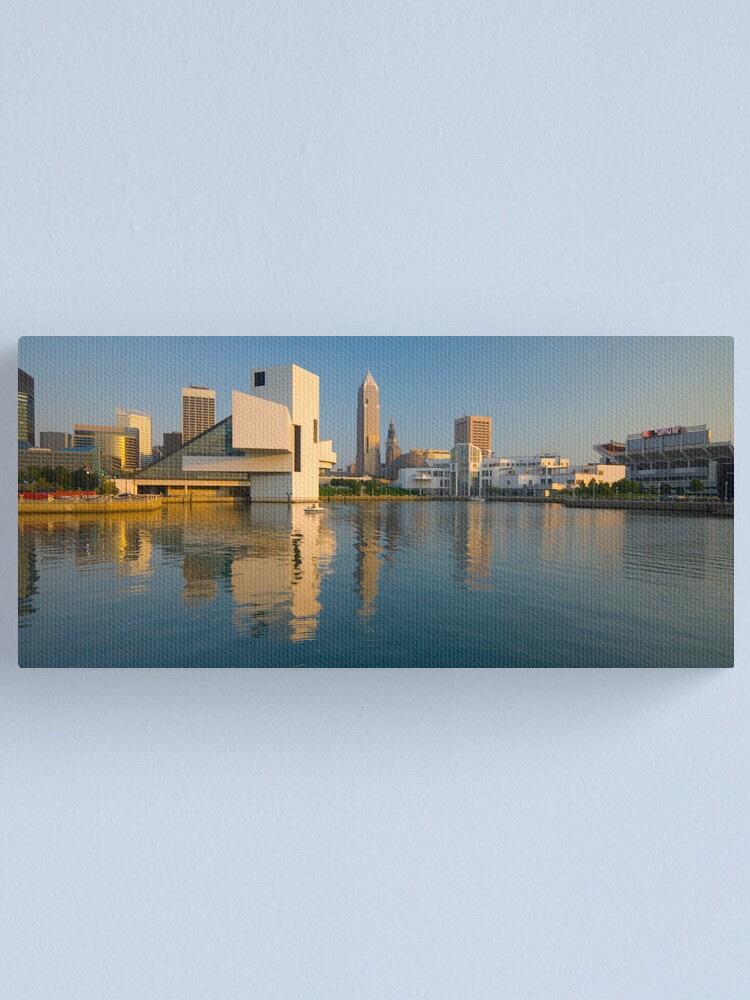 Alternate view of Cleveland Ohio  Rock and Roll Hall of Fame (Alan Copson © 2007) Canvas Print