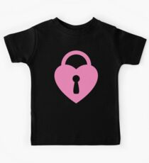 Pastel Pink Locked Heart Kids Clothes