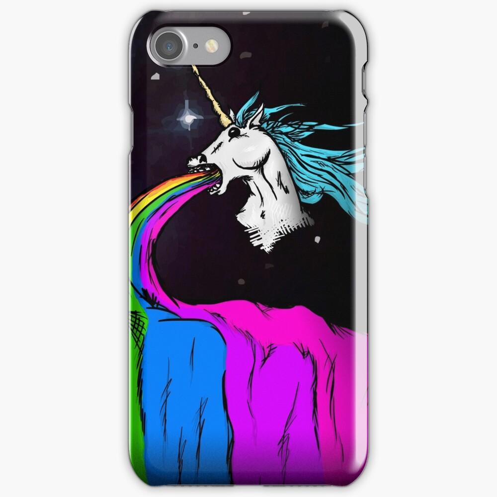 Unicorn puking rainbow iPhone Case & Cover