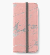 Luxurious Pink Marble 6 iPhone Wallet