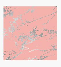 Luxurious Pink Marble 6 Photographic Print