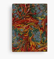 Melting Marbled Paper Canvas Print