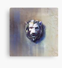 White Marble LIon Canvas Print