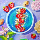 strawberries smoothie. oil on canvas by terezadelpilar ~ art & architecture