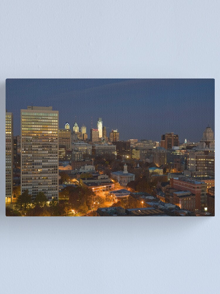 Alternate view of Philadelphia Downtown/Center City and Old City (Alan Copson © 2007) Canvas Print