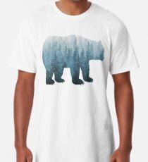 Misty Forest Bear - Türkis Longshirt