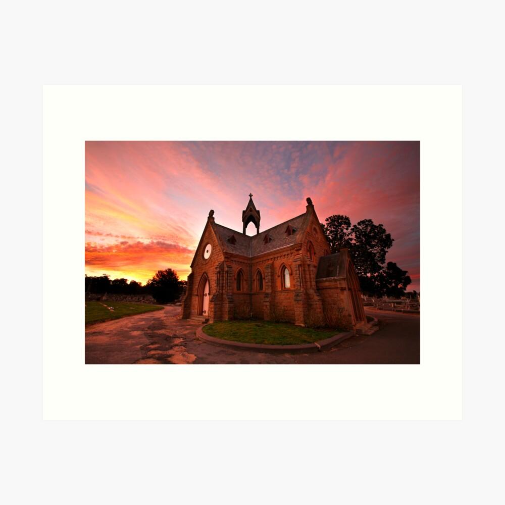Bendigo Cemetery, Victoria, Australia Art Print