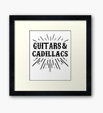 Country Shirt GUITARS and CADILLACS Shirt MUSIC Graphic Tee Framed Print