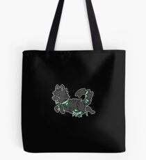 Candy Gore Wolf - Blue with Black Fur Tote Bag