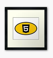 HTML5 developer - Superhero coder Framed Print