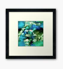 Watercolor landscape Framed Print