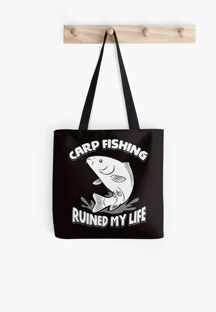 646e525d Carp Fishing Ruined My Life T-Shirt Funny Line and Sinker Tee by larspat