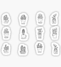 mini plants Sticker