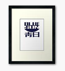 Blue Sun (original) Framed Print