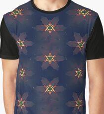 Christmas Poinsettia Lights Graphic T-Shirt