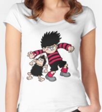 Dennis the Menace and Gnasher Women's Fitted Scoop T-Shirt