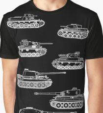 German Panzers of WWII Graphic T-Shirt