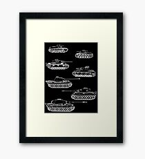 German Panzers of WWII Framed Print