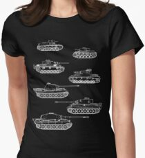 German Panzers of WWII Women's Fitted T-Shirt