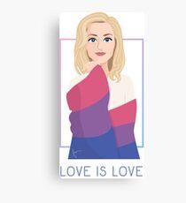 Stella Gibson - Love is love Canvas Print
