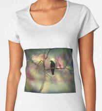 Glühende Lichter und Krähe Frauen Premium T-Shirts