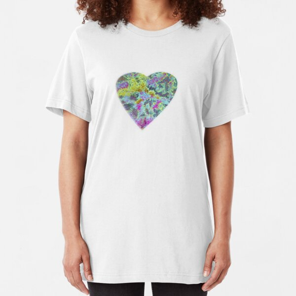 Color Burst Heart Slim Fit T-Shirt
