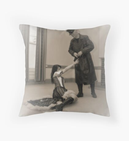 Her Visitor Throw Pillow
