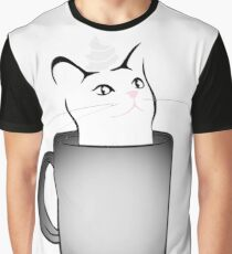 Iced White Chocolate Catto (For brighter colored items) Graphic T-Shirt