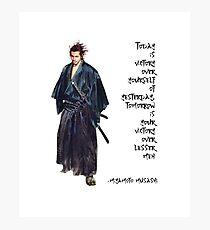 Miyamoto Musashi Excerpt Photographic Print