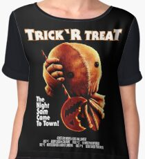 Trick 'r Treat Halloween Mashup T-Shirt Chiffon Top