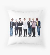BTS LOVE YOURSELF PRESS CONFERENCE OT7 Throw Pillow
