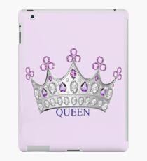 Queen Crown, Purple Silver iPad Case/Skin