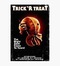 Trick 'r Treat Halloween Poster Photographic Print