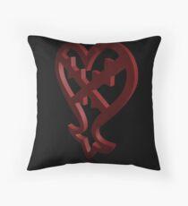 3D Heartless Symbol Throw Pillow