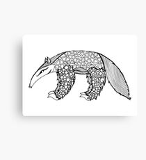 A is for Anteater - B&W Canvas Print