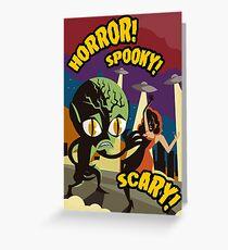 alien space invader horror film vintage poster Greeting Card