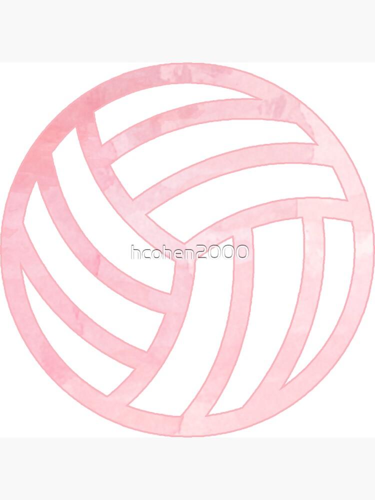 Rosa Volleyball von hcohen2000