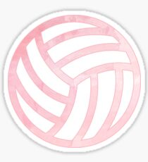 Pink Volleyball Sticker