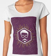Hipster man hair, beard Women's Premium T-Shirt