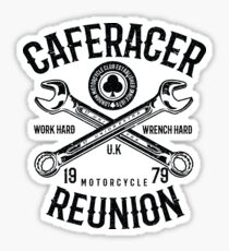 Cafe Racer Motorcycle Retro Vintage Sticker
