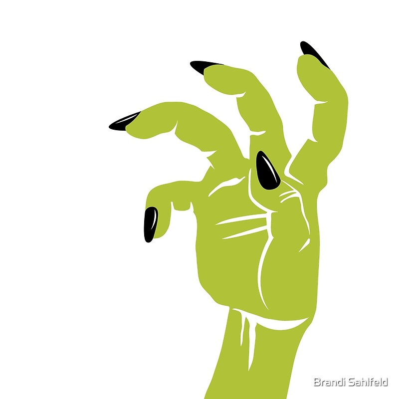 Cojines «Glossy Top Coat: uñas negras en blanco» de Brandi Sahlfeld ...