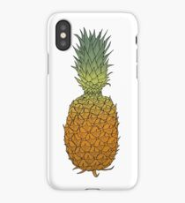 Pineapple hand drawn colored ink sketch iPhone Case/Skin