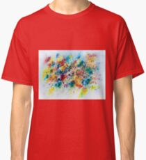 Abstract floral watercolor painting Classic T-Shirt