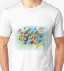 Abstract floral watercolor painting T-Shirt