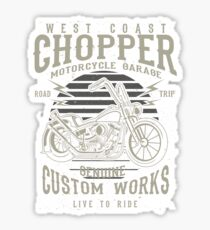 Chopper Motorcycle Retro Vintage Sticker