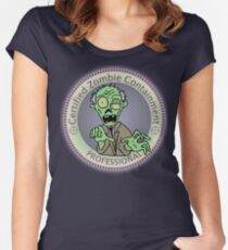 Zombie Containment Professional  Women's Fitted Scoop T-Shirt
