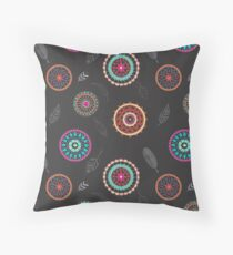 Dream Catchers and Feathers Throw Pillow