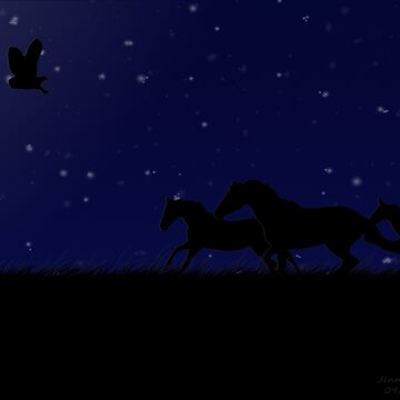 Running through the Night by KittyMelodies