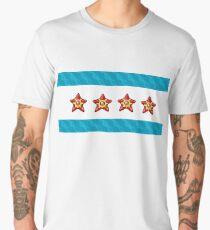Staryu Chicago Flag Men's Premium T-Shirt